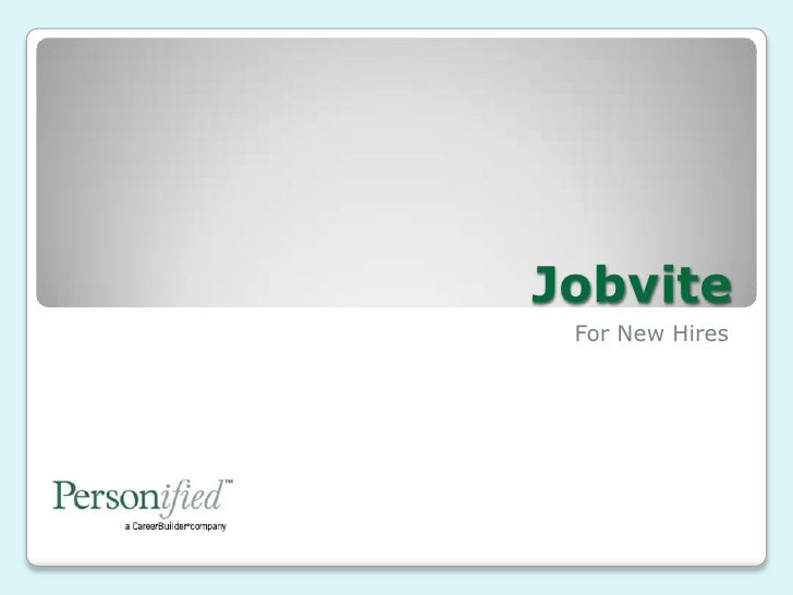 Jobvite<br />For New Hires<br />
