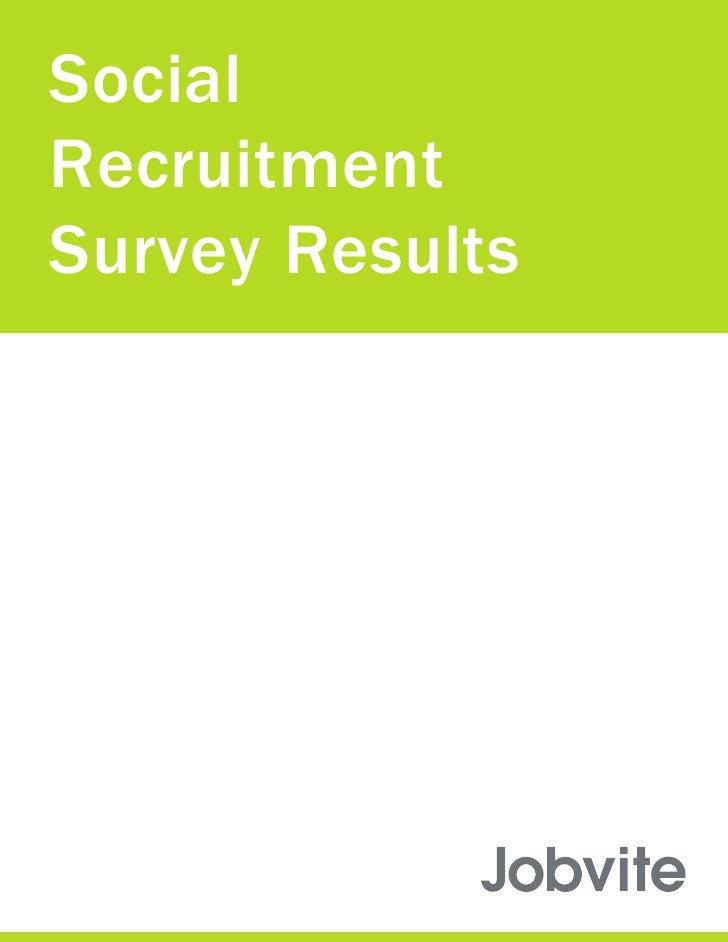 Jobvite Social Recruitment Report 2008