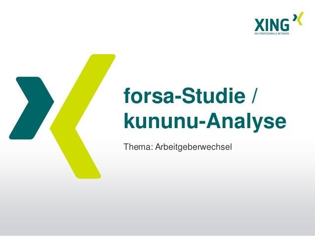 forsa-Studie /kununu-AnalyseThema: Arbeitgeberwechsel