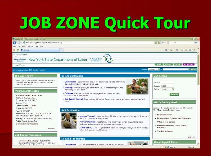 JOB ZONE Quick Tour