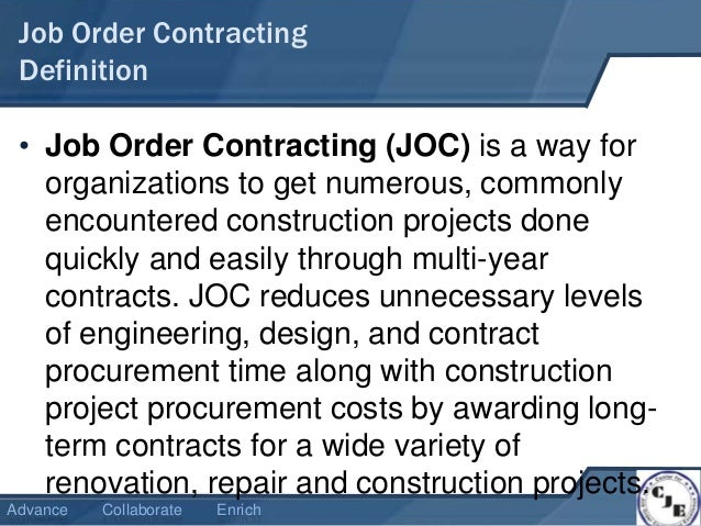 what is job order contracting