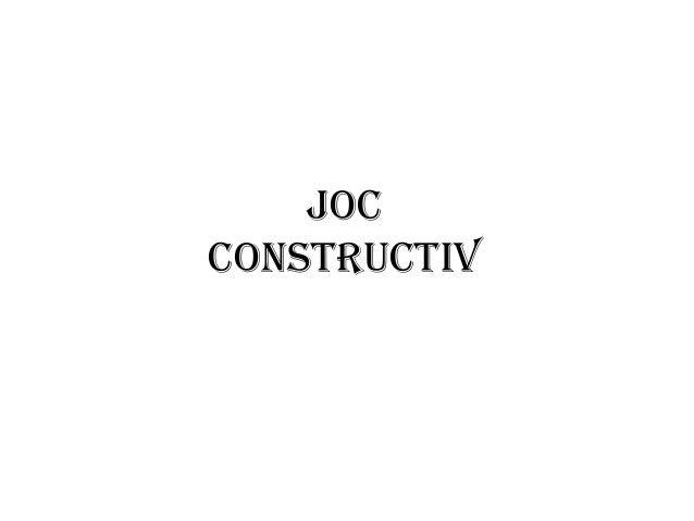 Joc constructiv