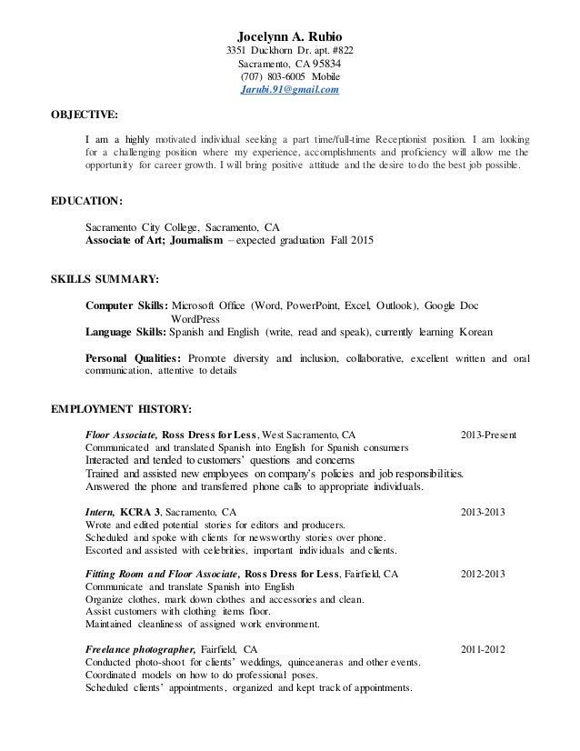 Jocelynn S Resume