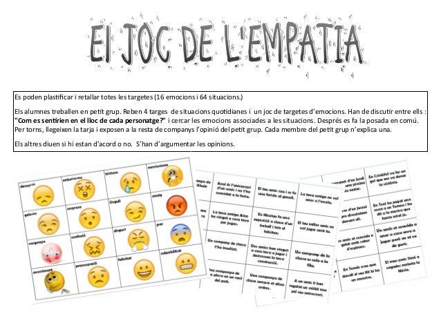 Es poden plastificar i retallar totes les targetes (16 emocions i 64 situacions.) Els alumnes treballen en petit grup. Reb...