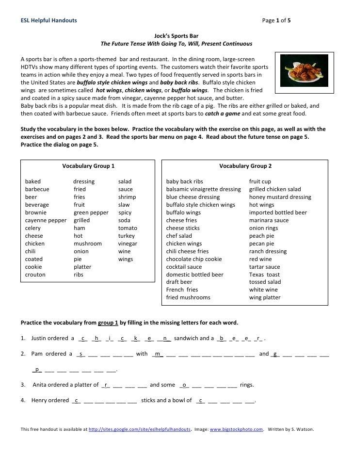 ESL Helpful Handouts                                                                                          Page 1 of 5 ...