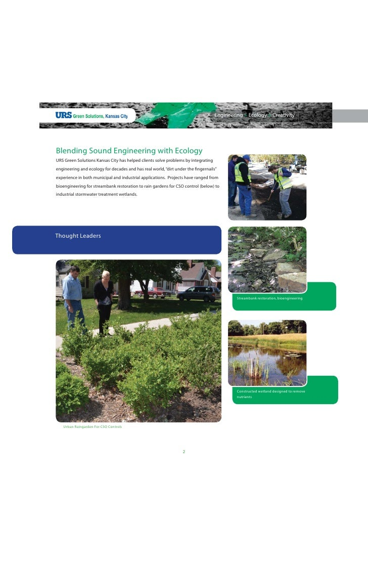 Yes Green Infrastructure: Kansas City's Green Solutions Pilot Project, URS Green