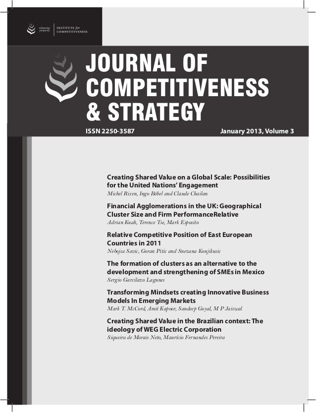 enhancingprosperity                             JOURNAL OF                             COMPETITIVENESS                    ...