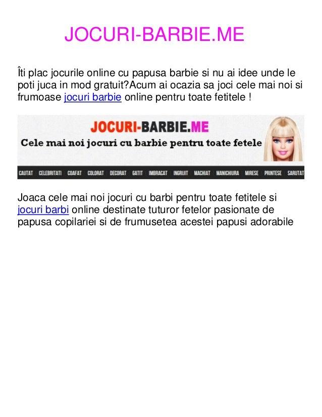 Jocuri Barbi