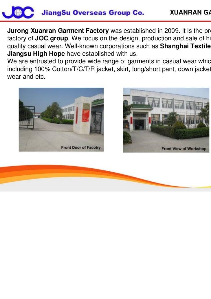 Joc Xuanran Garment Factory 2011.11.11 Slide 2