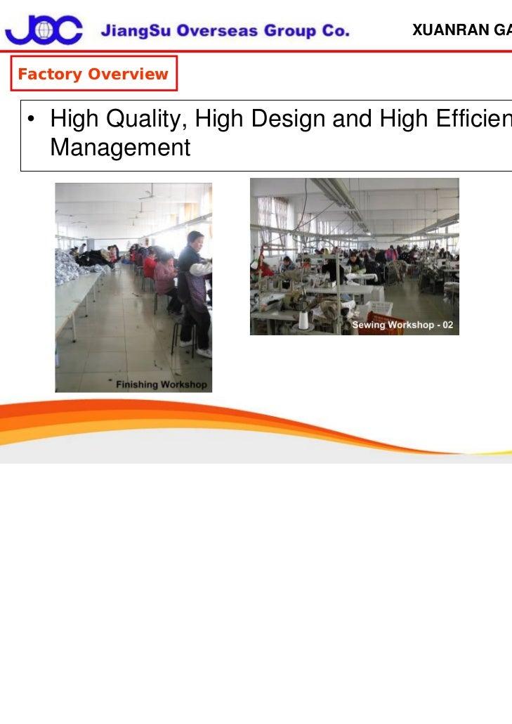 Joc Xuanran Garment Factory 2011.11.11 Slide 3