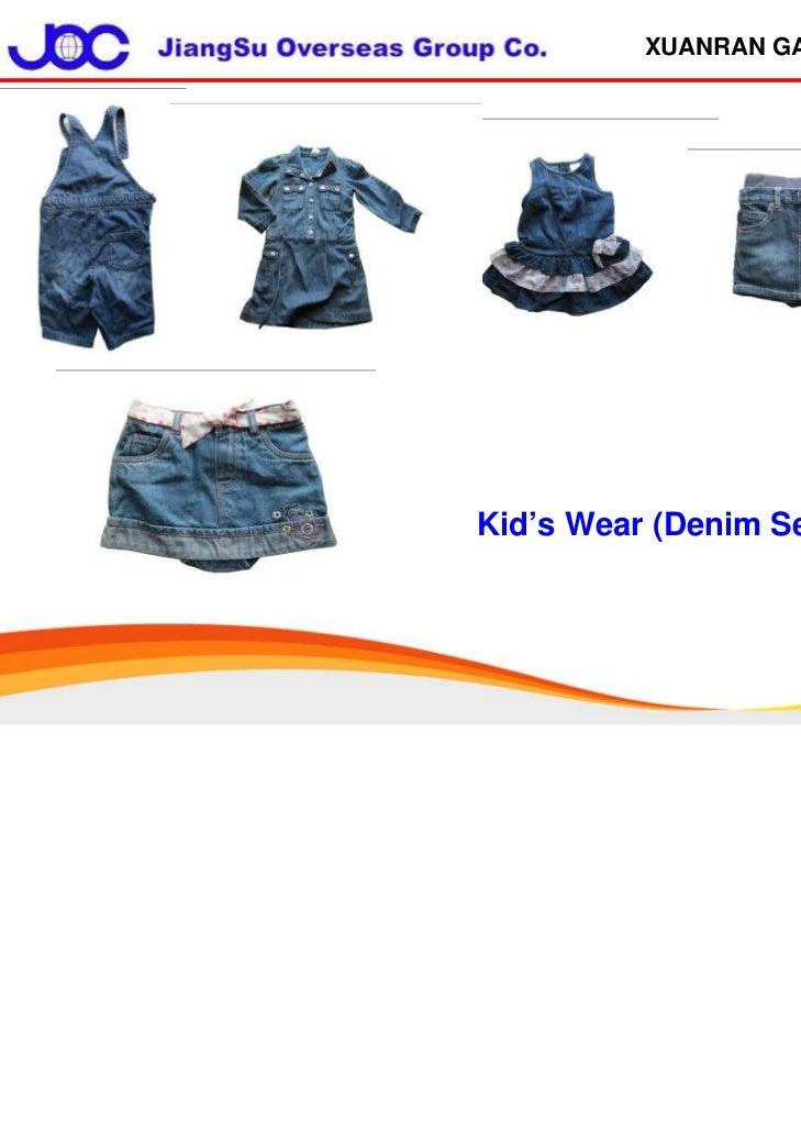 XUANRAN GARMENTKid's Wear (Denim Series)
