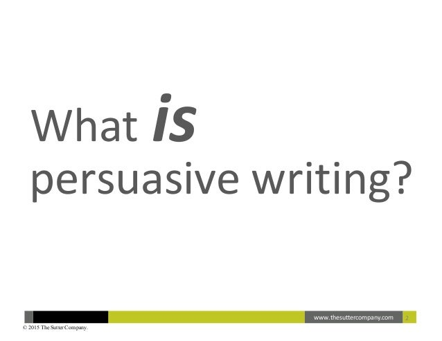 How-to Guide to Persuasive Writing