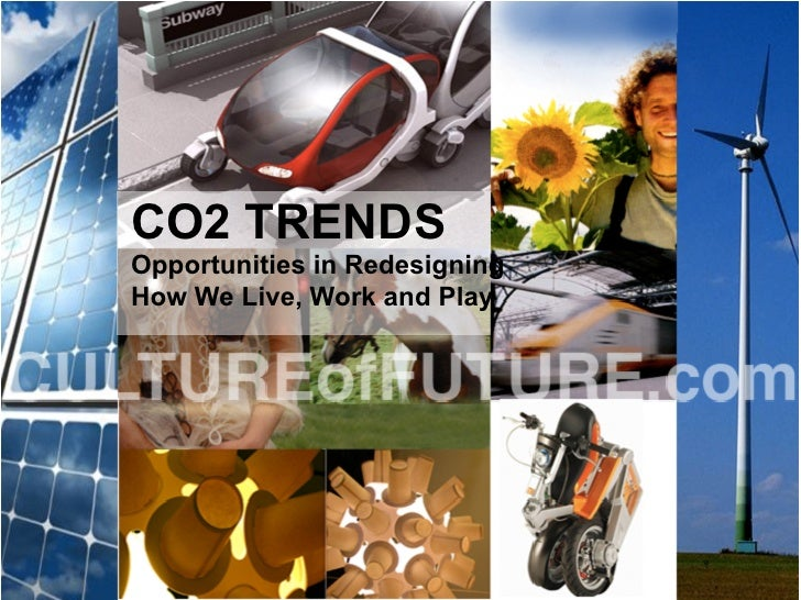 CO2 TRENDS Opportunities in Redesigning How We Live, Work and Play
