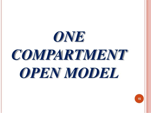 ONE  COMPARTMENT  OPEN MODEL  15