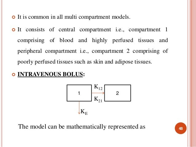  It is common in all multi compartment models.   It consists of central compartment i.e., compartment 1  comprising of b...