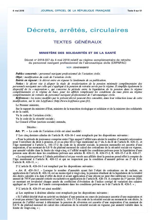 Retraite Complementaire Personnel Navigant Professionnel De L Aeronau