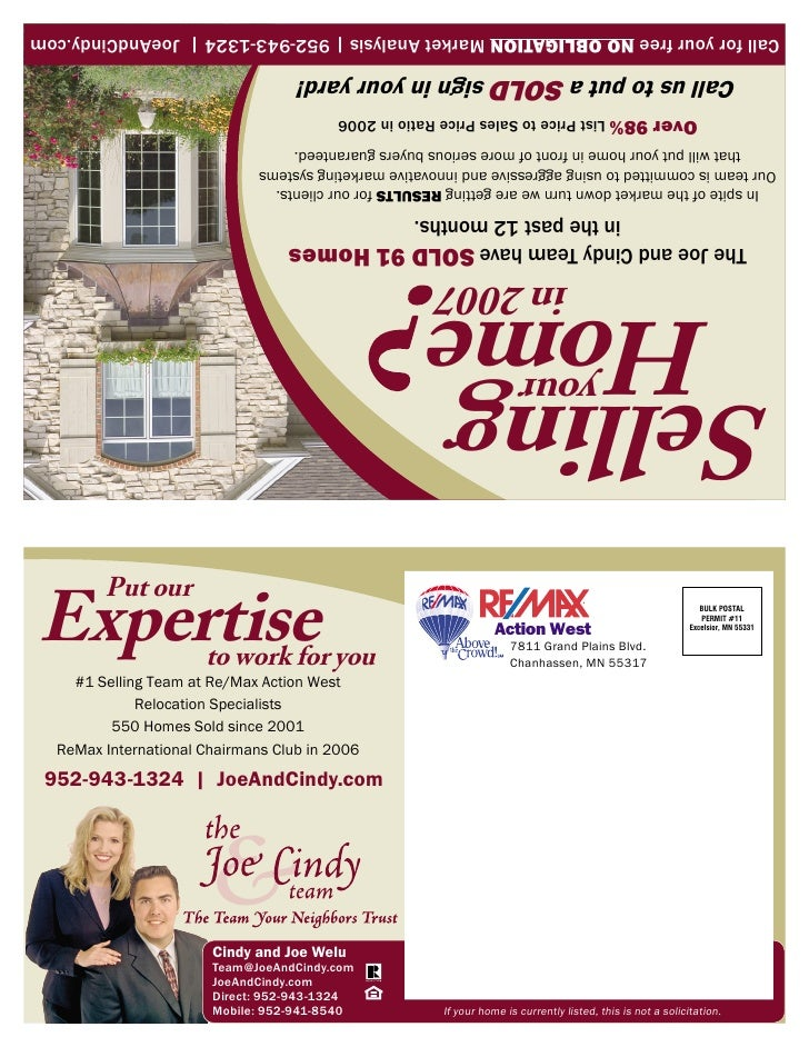 If your home is currently listed, this is not a solicitation.     Mobile: 952-941-8540                                    ...
