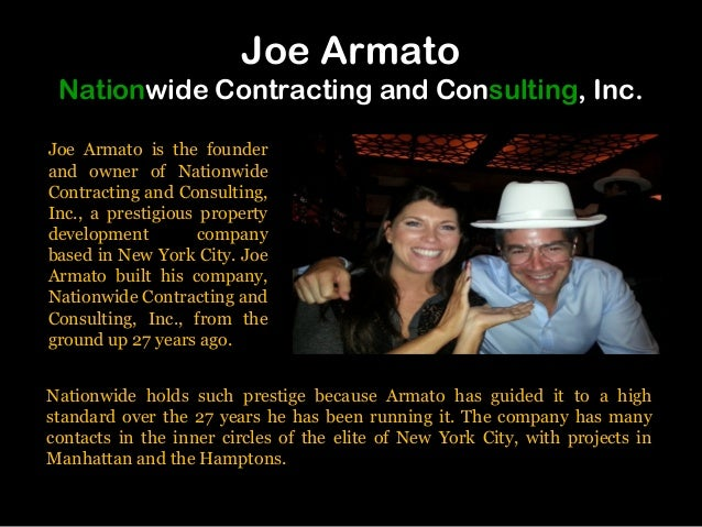 Joe Armato Nationwide Contracting and Consulting, Inc. Joe Armato is the founder and owner of Nationwide Contracting and C...