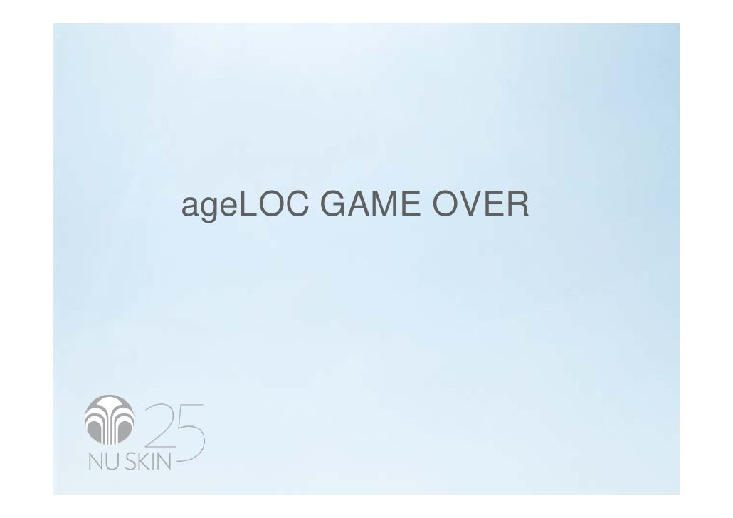 ageLOC GAME OVER