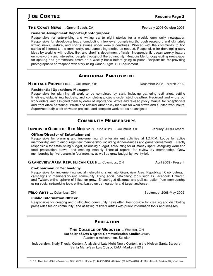 joe cortez resume