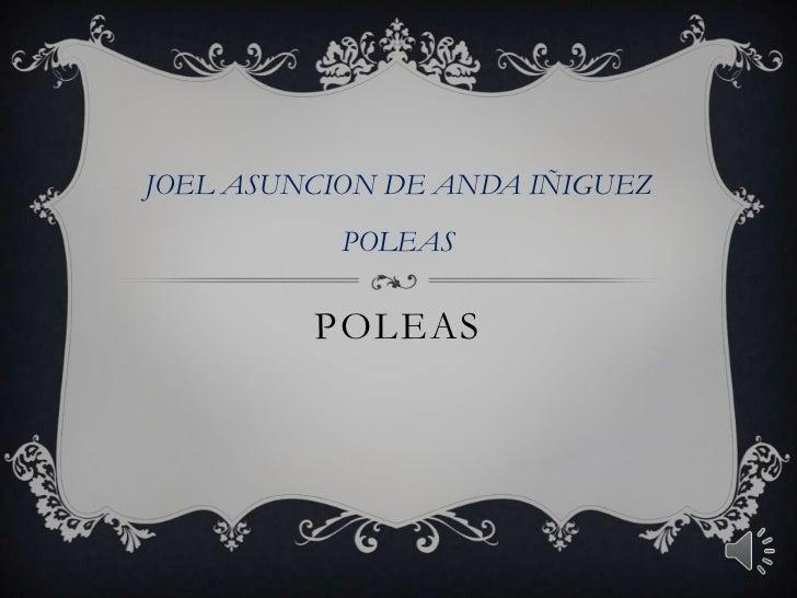 POLEAS<br />JOEL ASUNCION DE ANDA IÑIGUEZ<br />POLEAS<br />