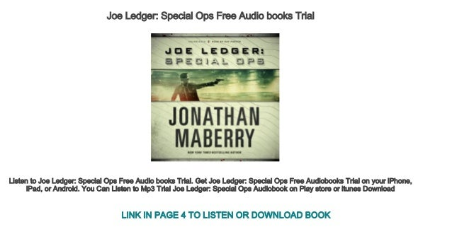 Joe Ledger Special Ops Free Audio Books Trial