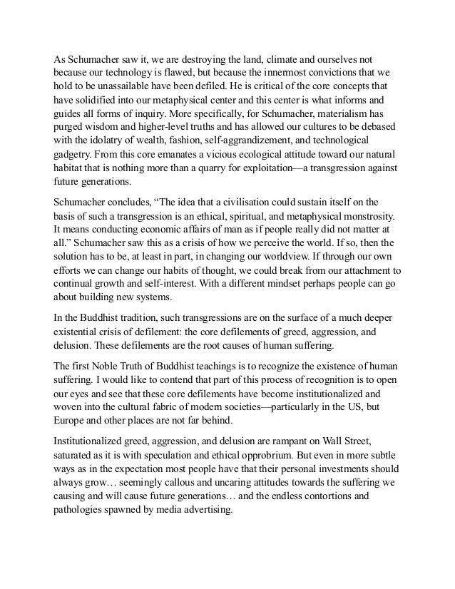 Buddhist economics essay