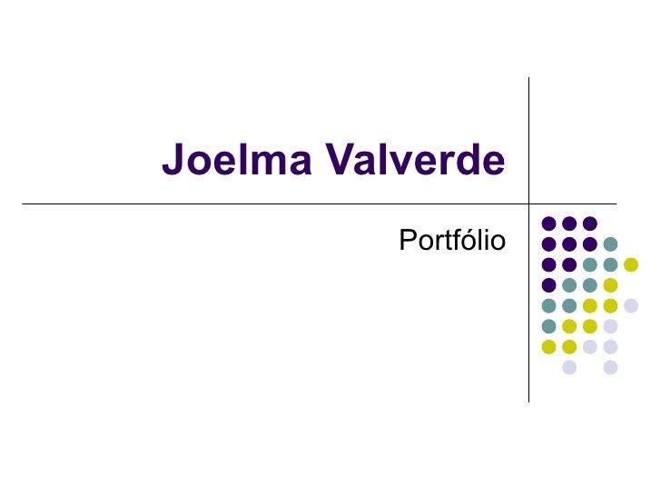 Joelma Valverde Portfólio