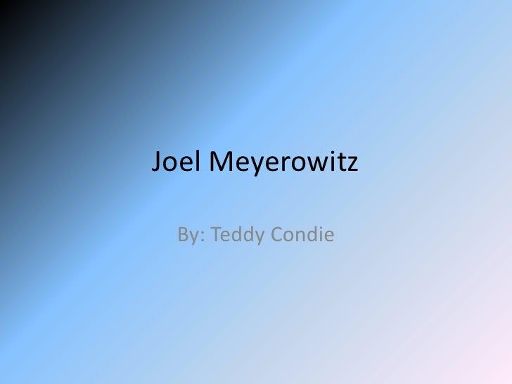 Joel Meyerowitz   By: Teddy Condie