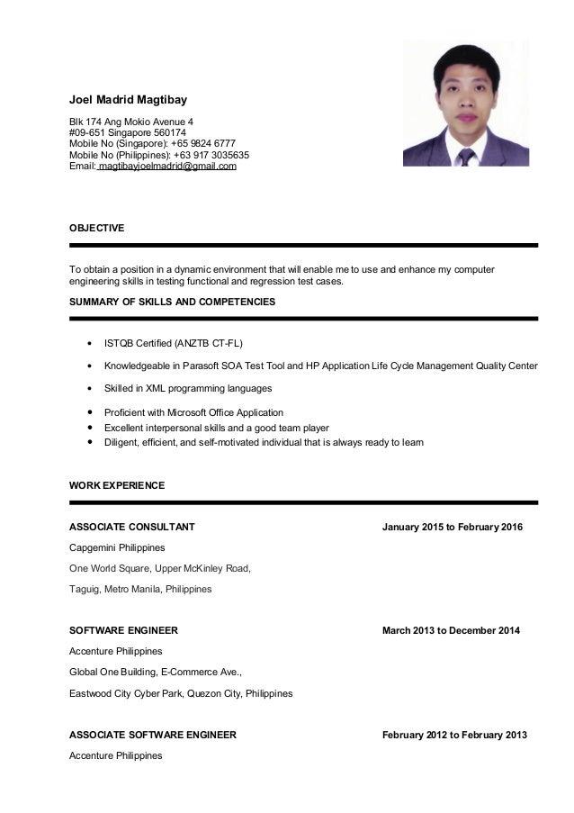Joel M Magtibay Resume 2016