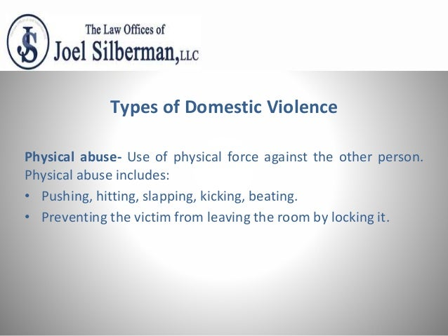 different types of domestic abuse
