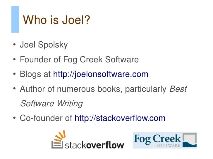 Passing the Joel Test in the PHP World (phpbnl10) Slide 3