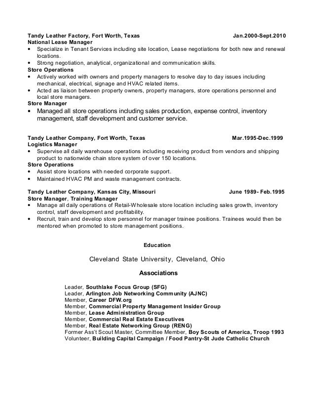 2 - Real Estate Manager Resume
