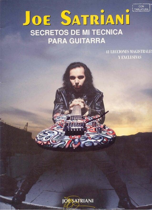 Joe satriani   guitar secrets(español) - by marco eats brains