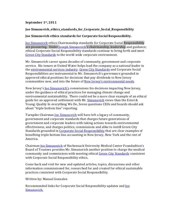 September 1st, 2011 Joe Simunovich_ethics_standards_for_Corporate_Social_Responsibility Joe Simunovich ethic...