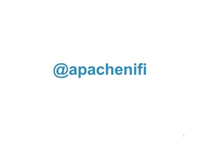 Joe Witt presentation on Apache NiFi Slide 2
