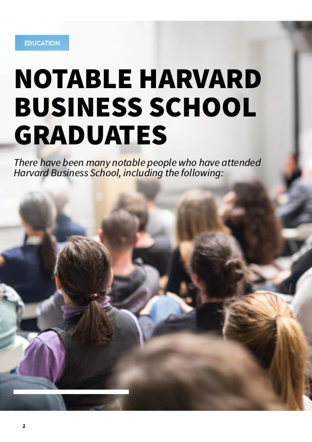 Notable Harvard Business School Graduates