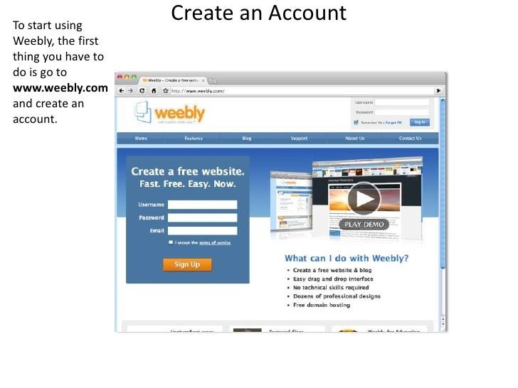 Creating a Website in Weebly