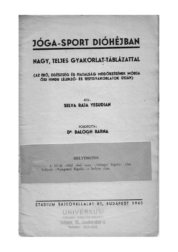 Selva Raja Yesudian: Jóga-sport dióhéjban Slide 2
