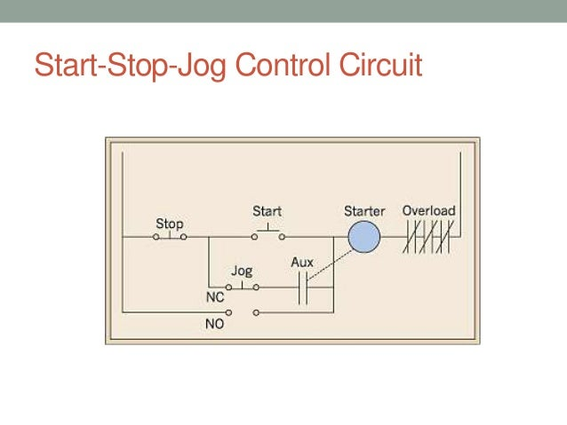 wiring diagram start stop motor control simple start stop
