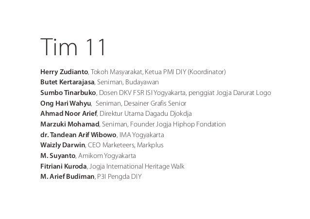 Timll  Herry Zudianto, Tokoh l/ lasyarakat,  Ketua Pl/ ll DIY (Koordinator) Butet Kertarajasa,  Seniman,  Budayawan  Sumbo...