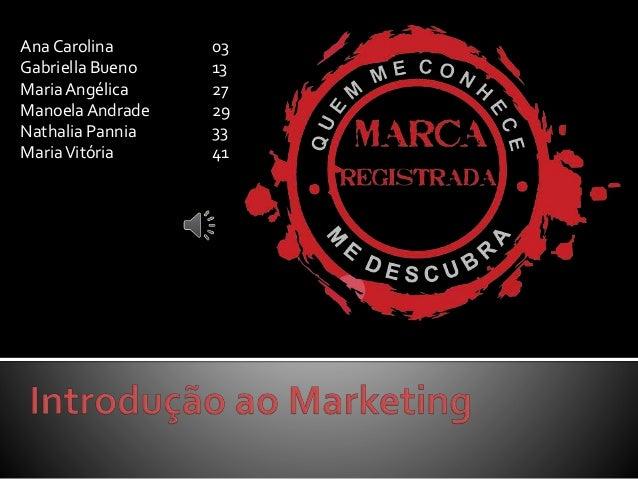Ana Carolina 03 Gabriella Bueno 13 MariaAngélica 27 ManoelaAndrade 29 Nathalia Pannia 33 MariaVitória 41
