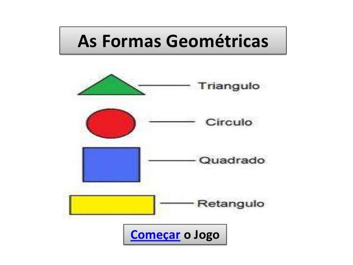 As Formas Geométricas     Começar o Jogo