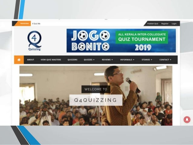 Jogo Bonito - InterCollege General Quiz 2019 - Trivandrum Slide 3