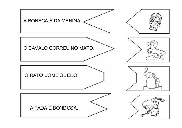 Jogo Encaixe Frases Com Desenhos