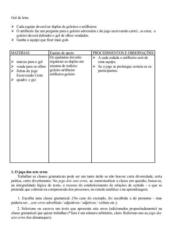 Jogos De Lingua Portuguesa