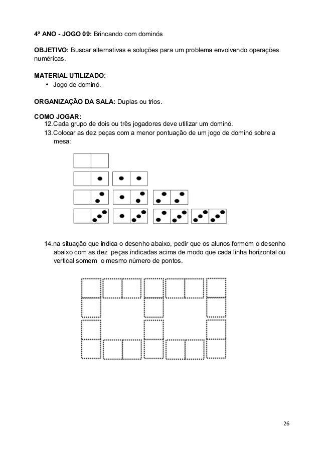 Jogos Matematicos 3º 4º 5º Ano Paic Volume I Professor