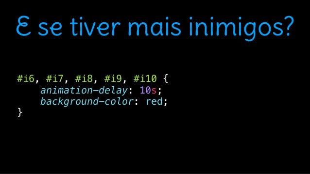 """<main class=""""game""""> <div class=""""inimigo"""" id=""""i1""""></div> <div class=""""inimigo"""" id=""""i2""""></div> <div class=""""inimigo"""" id=""""i3""""><..."""