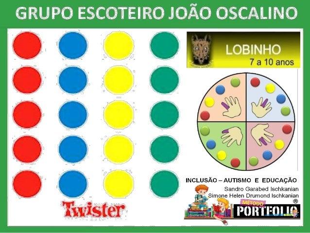 O Twister � um jogo muito divertido, trabalha a coordena��o motora e a flexibilidade.