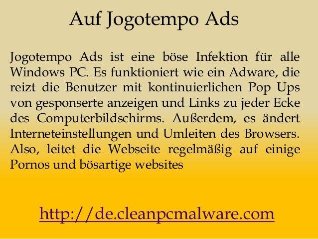 Auf Jogotempo Ads Jogotempo Ads ist eine böse Infektion für alle Windows PC. Es funktioniert wie ein Adware, die reizt die...